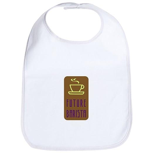 00661c2b25eb4 Amazon.com: CafePress - Future Barista Bib - Cute Cloth Baby Bib, Toddler  Bib: Clothing