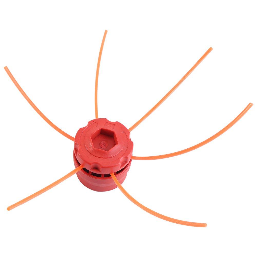 Fdit Ferroviario cortadora Cadena Universal de plástico de Cabezales de Trimmer para el Cortador de Cepillo de Hierba de Gasolina