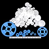 69 Pcs Plastic RC Parts Lot, Plastic Gears, Pulley, Belt, Rack Gear Kit Gearbox Motor Gear Set For DIY Car Robot