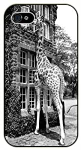 Giraffe breakfast - iPhone 5 / 5s black plastic case / Animals and Nature, house