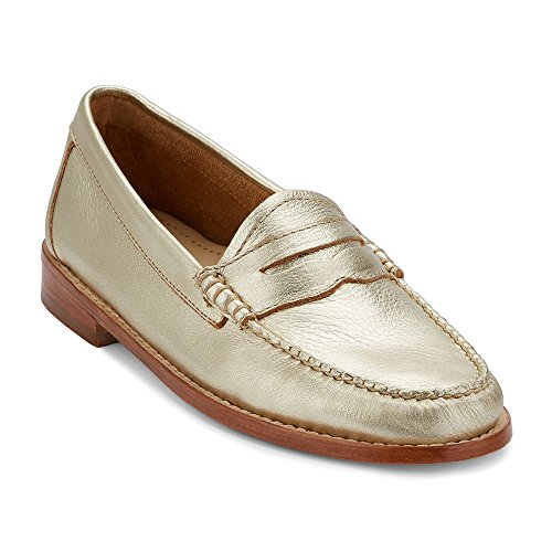 clearance choice G.H. Bass & Co. Women's Whitney Penny Loafer Gold Metallic Leather wide range of zfdYJ3