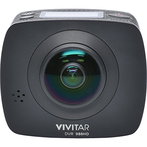 Vivitar DVR988-BLK 360 Action Camera, 4K and 1080P HD Resolution, Black