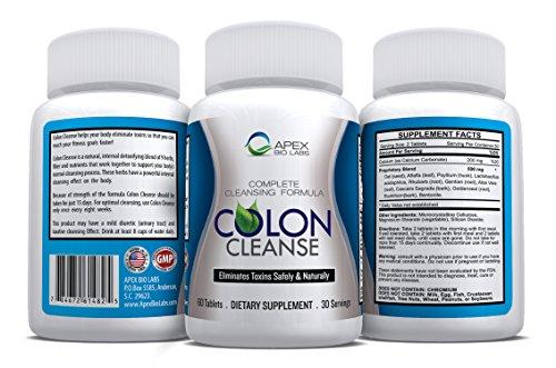 Colon Cleanse par Apex Bio Labs - formule de nettoyage complet pour le Colon - élimine les toxines sans risque et naturellement - Dietary Supplement - Money Back Garantie - Made in USA