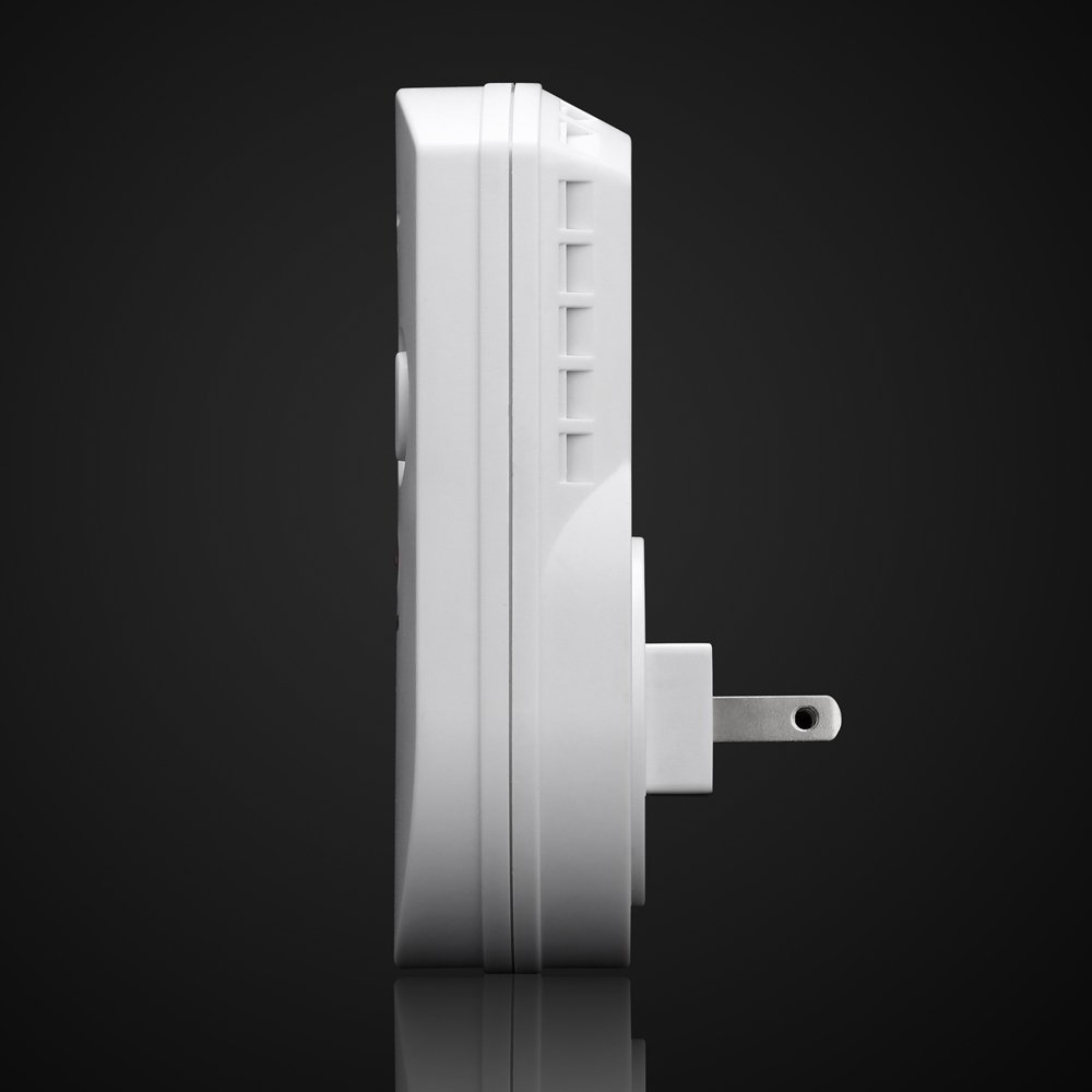 SODIAL Sensitive digital display flammable pipe alarm gas detector gas detector kitchen monitoring sensor US Plug by SODIAL (Image #7)