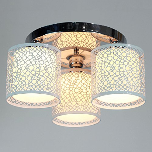 Lightinthebox Modern 3 Light Flush Mount Creative Painting Metal Ceiling Light Fixture Chandeliers for Kitchen (White)