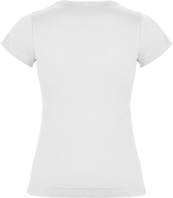 Camiseta Blanca para Mujer, Manga Corta, 100% algodón: Amazon.es: Ropa y accesorios