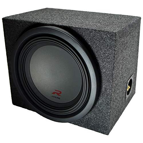 Universal Car Stereo Rearfire Sealed Single 12″ Alpine R-W12D4 Type R Car Audio Subwoofer Custom Sub Box Enclosure Package