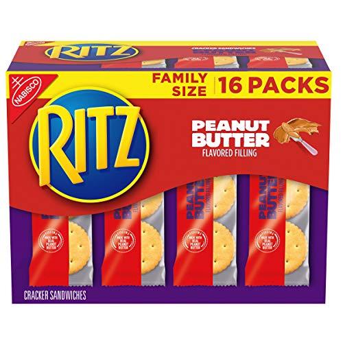 RITZ Peanut Butter Sandwich Crackers, Family Size, 16 - 1.38 oz Packs