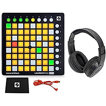 novation launchpad mini mk2 mkii usb midi dj controller 64 pad samson headphones. Black Bedroom Furniture Sets. Home Design Ideas