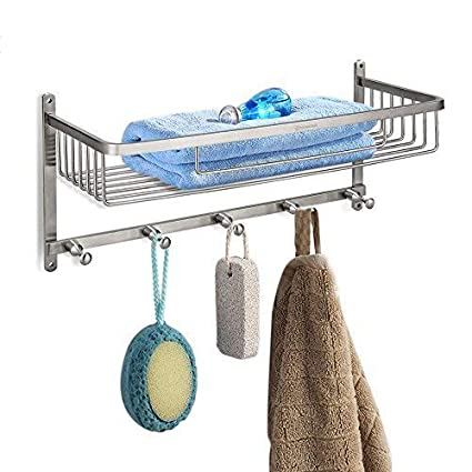 Amazoncom Homeideas Large Capacity Shower Caddy Stainless Steel