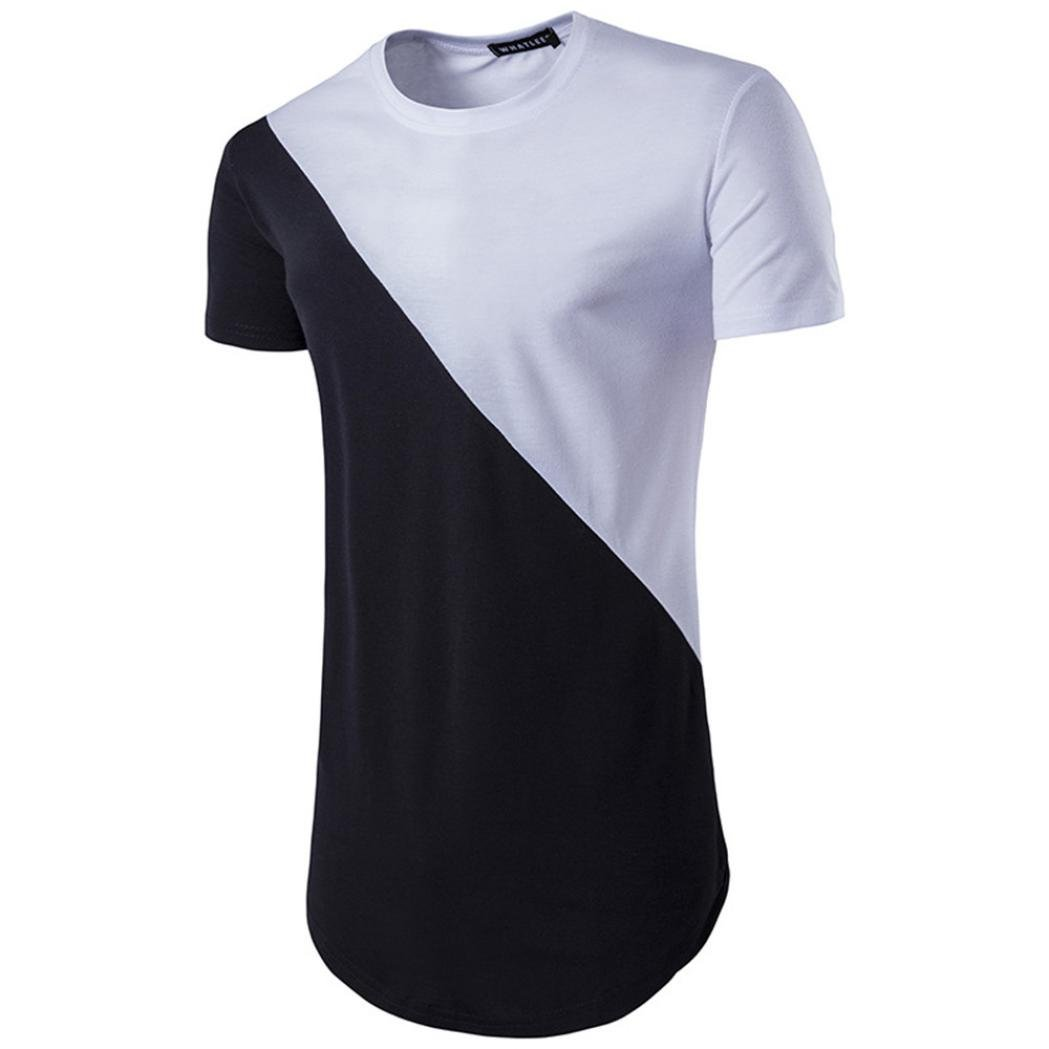 iOPQO T-Shirt for Men, Men's Casual Lip Short Sleeve T-Shirt Top Blouse