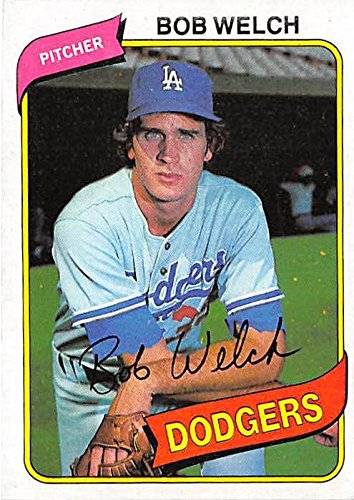 Bob Welch Baseball Card Los Angeles Dodgers World Series