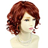 NEW !!! Lovely Short Wig Curly Fox Red Summer Style Skin Top Ladies Wigs UK by Wiwigs