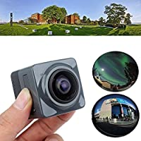 LeaningTech Mini Cube Action Sports Panorama Camera H.264 360 Degree Wifi 720P Fisheye Wide View Wide Angle Outdoor Video VR Camcorder Black