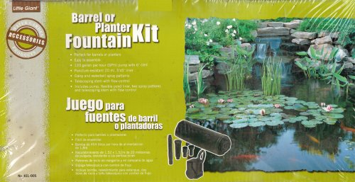 - Little Giant® Barrel or Planter Fountain Kit - 120 GPM