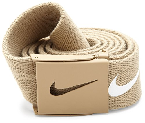 Belts Web Clothing Accessories - Nike Mens Tech Essential Belt, Tan, One Size