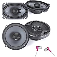 JBL GTO629 Premium 6.5-Inch Co-Axial Speakers (1Pair) And JBL GTO6429 Premium 4 x 6 Inches Co-Axial Speaker (1Pair) + Earbuds