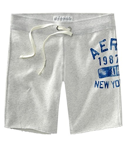 Aeropostale Fleece - Aeropostale Womens Aero Ny Fleece Bermuda Athletic Sweat Shorts Grey XS - Juniors