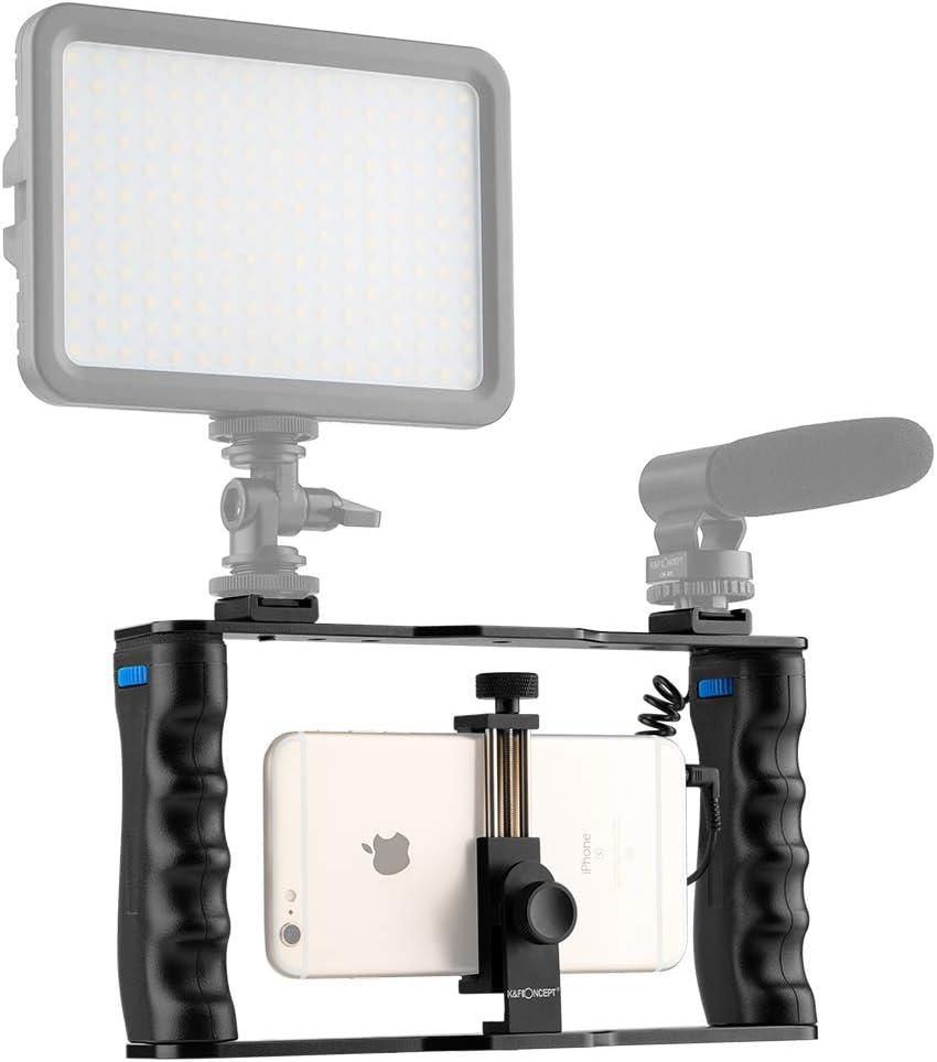 K/&F Concept Smartphone Video Rig,Filmmaking Case Phone Video Stabilizer Grip Tripod Mount for Videomaker Film-Maker Video-Grapher