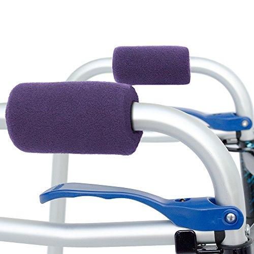 (Universal Walker Hand Grip Covers - Luxurious Soft Fleece with Sculpted Memory Foam Cores (Playful Purple))