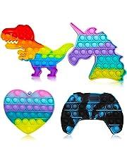 4PCS Push Bubble Sensory Pop Fidget It Toys for Kids & Adults