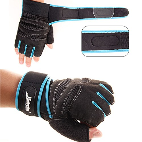 NEW Weight Lifting Gym Gloves Training Fitness Wrist Wrap ...