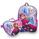 Disney Frozen Anna & Elsa Backpack and Lunchbag Set