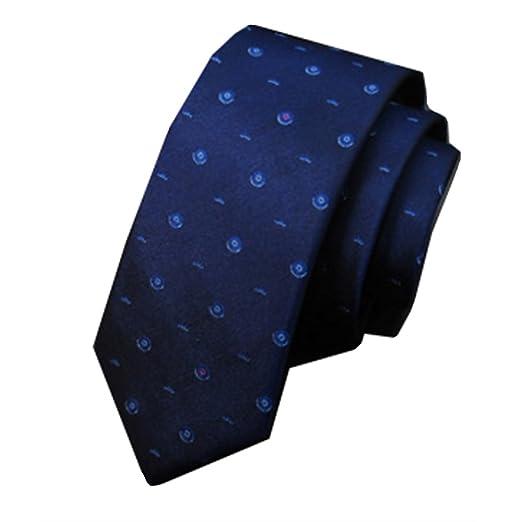 YYB-Tie Corbata Moda Corbatas de Hombre Versión Estrecha de Seda ...