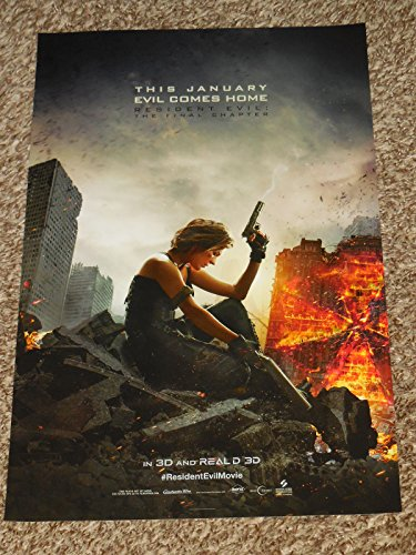 Resident Evil  The Final Chapter 11X17 Inch Promo Movie Poster