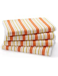 Cotton Craft   4 Pack Oversized Kitchen Towels, 20x30   Coral, Pure 100%