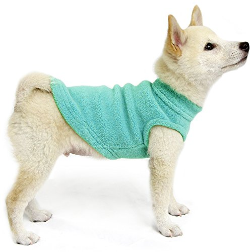 Image of Gooby - Stretch Fleece Vest, Pullover Fleece Vest Jacket Sweater for Dogs, Mint, Small