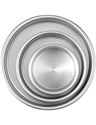 Aluminum Round Cake Pans 3 Piece Set With 8 Inch 6