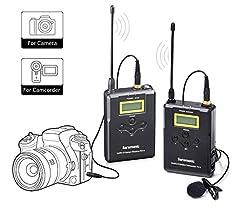 Inalámbrico Lavalier Sistema de micrófono, Saramonic uwmic15 UHF ...