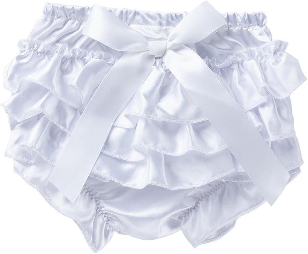 Winsummer Newborn Baby Girls Christmas Halloween Satin Lace Ruffle Bloomers Diaper Covers Bowknot Underwear for 0-12M