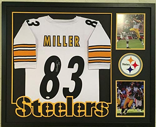 Framed Heath Miller Autographed Signed Pittsburgh Steelers Jersey - JSA Authentic ()