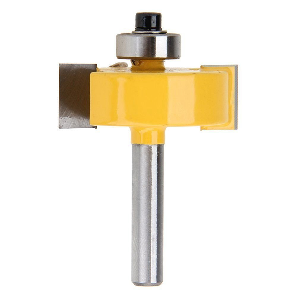 3//8 inch 5//16 inch SNOWINSPRING 1//4 Inch Shank Rabbeting Router Bit with 6 Bearings Set for Multiple Depths 1//8 inch 7//16 inch 1//4 inch 1//2 inch