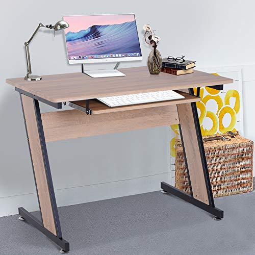 Price comparison product image Modern Computer Desk Home Office Corner Table PC Laptop Study Wood Top Saving Space