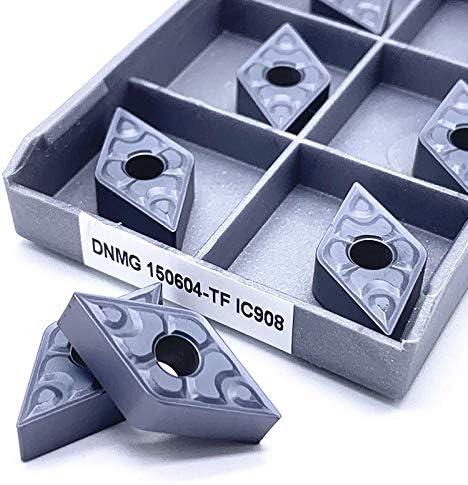ohne 10 Stück DNMG150604 TF IC907 Externe Drehwerkzeuge Hartmetall-Einsatz Drehmaschine Werkzeug Tokarnyy Dreheinsatz DNMG150604 TF Ic908