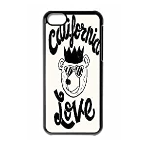{Funny Quote Series} iPhone 5C Case Typography Cali Love, Cute Protective Case Yearinspace - Black Kimberly Kurzendoerfer