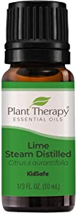 Plant Therapy Lime Steam Distilled Essential Oil 10 mL (1/3 oz) 100% Pure, Undiluted, Therapeutic Grade