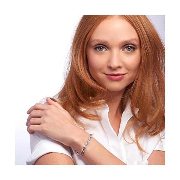 Ross-Simons 925 Sterling Silver Handmade Byzantine Bracelet, 9.5 Gram Weight