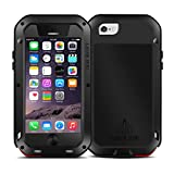 Love Mei Shockproof Water Resistant Dust/Dirt/Snow Proof Aluminum Metal Gorilla Glass Heavy Duty Protection Case Cover for Apple iPhone 6 4.7