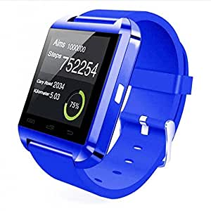 Bluetooth Smart Wrist Watch Phone Mate For IOS Android iPhone Samsung HTC LG (DARK BLUE)