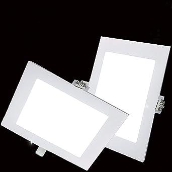 Pack 2x Downlight LED Led Panel light Cuadrado 18W 3000K Luz ...