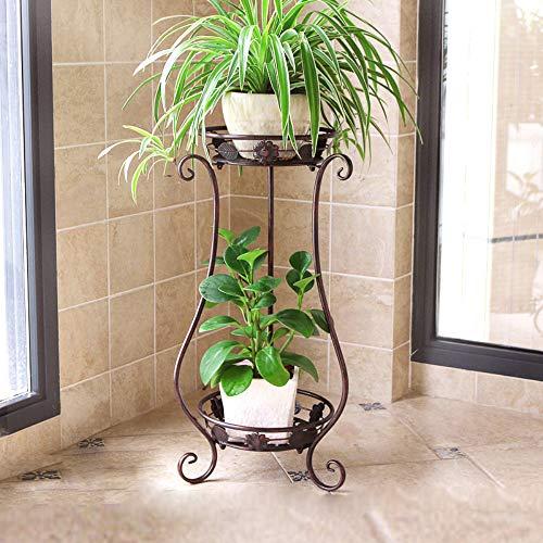 Metal Tall Plant Stand Indoor/Outdoor,Iron Art Flower Pot Holder Small Plant Holders,Flower Pot Stand Flower Pot Supporting,Potted Plant Stand Plant Rack Planter Stand,for Home,Garden,Patio(Bronze) (Rack Pot Flower)