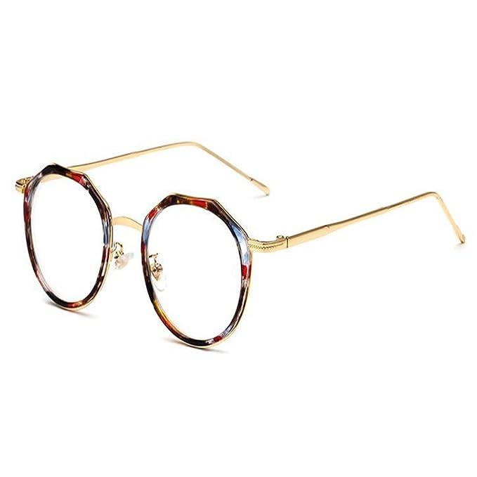 Retro Runde Metall Rahmen Blaulichtfilter Anti-Strahlung Brille für Damen Herren 5nIOV4rSl8