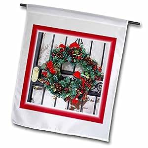 Florene Holiday Graphic - Traditional Christmas Wreath - 18 x 27 inch Garden Flag (fl_61877_2)