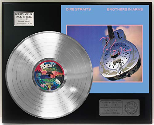 Dire Straits Brothers In Arms Platinum Lp Reproduction Signature Display C3