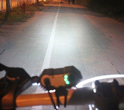 Añadiendo al carrito...Añadido a la cestaNo añadidoNo añadidoLámpara de la Bici del búho, LED Frontal para Manillar de Bicicleta + Paquete + Cargador de la batería, luz Ligera Que acampa 7500 Lumen 3 LED