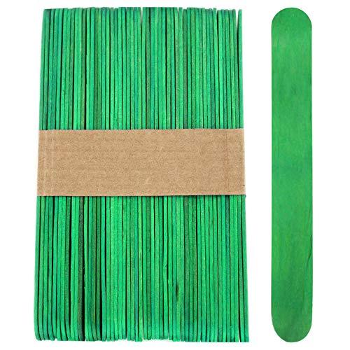 100 Wood Jumbo Craft Sticks Green Color